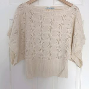 100% Cashmere Top Wide Sleeves